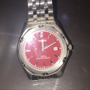 """Pulsar Red Faced Watch 8"""""""